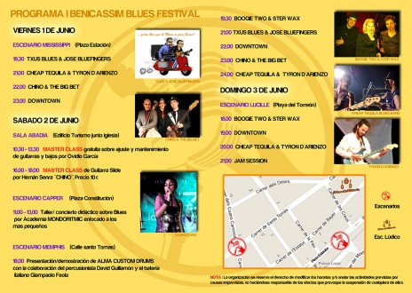 Programa Benicàssim Blues Festival 2012