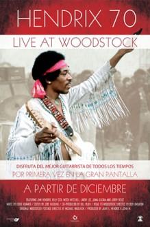 Cartel cine españa Woodstock Jimie Hendrix