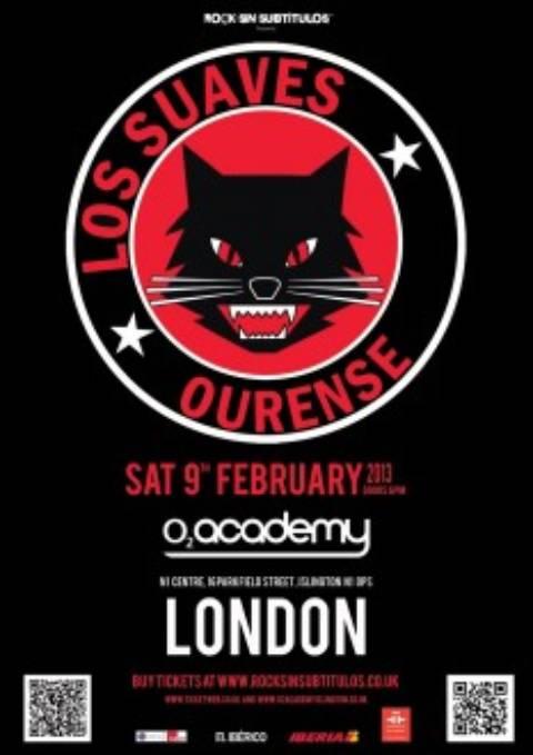 Los Suaves en Londres el sabado 9 de febrero de 2013