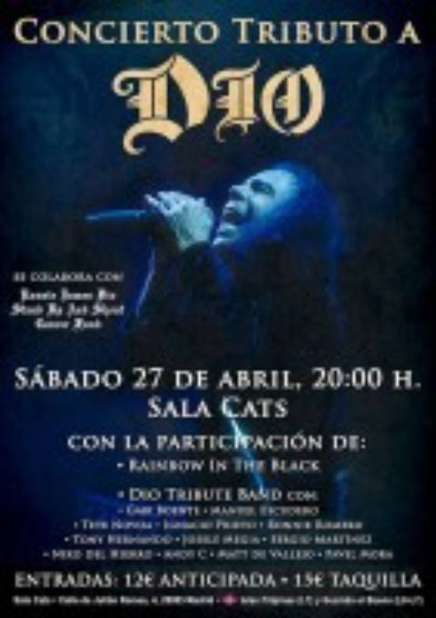 Concierto tributo a DIO en Madrid – Sala Cats 27 de Abril