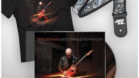 Portada CD Joe Satriani Unstoppable Momentum y presale bundles