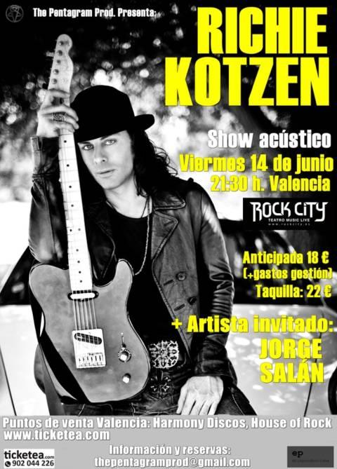 Cartel del concierto de Richie Kotzen + Jorge Salán en Valencia
