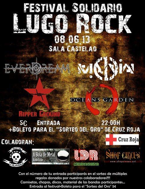 Cartel Festival Solidario Lugo Rock