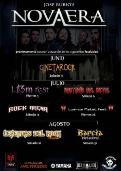 Nuevas fechas festivales confirmadas gira Jose Rubio´s Nova Era