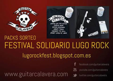 Guitar Calavera colabora un año más con el Festival Solidario Lugo Rock