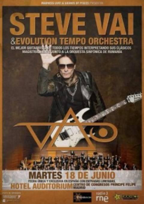 Concierto en Madrid de Steve Vai & Evolution Tempo Orchestra