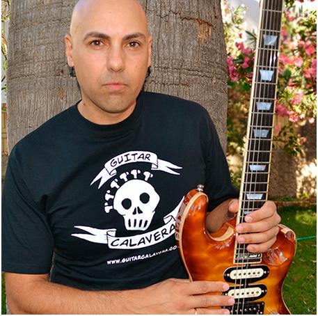 Manu Herrera camiseta Guitar Calavera