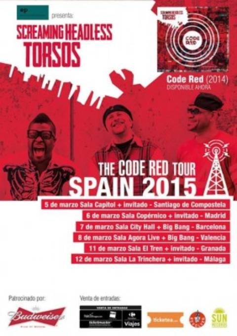 Screaming Headless Torsos anuncian gira española para 2015