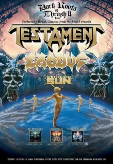 Testament y Exodus, de gira por España en mayo