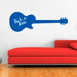 Vinilo decorativo pizarra guitarra gibson