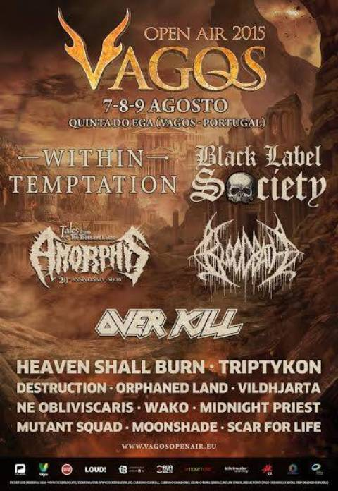 Black Label Society y Ne Obliviscaris se unen al Vagos Open Air 2015