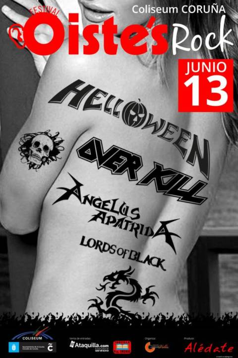 Overkill se suma a Helloween, Angelus Apatrida y Lords of Black en el Oiste's Rock