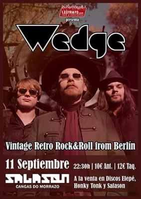 Cartel concierto Wedge Salason Cangas
