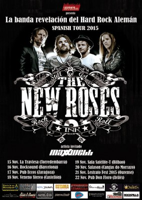 Cartel gira The New Roses Spain Tour