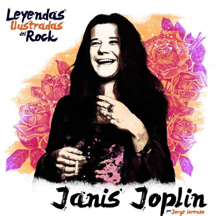 Janis Joplin ilustración y biografía