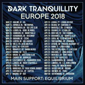 Fechas conciertos Dark Tranquillity 2018