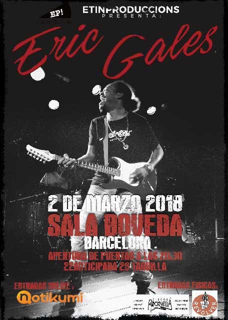 Cartel concierto Eric Gales Barcelona 2018