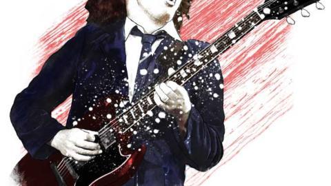 Leyendas ilustradas del Rock. Angus Young