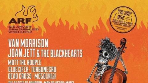 Van Morrison encabeza el cartel del Azkena Rock Festival