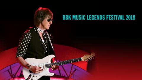 Jeff Beck , cabeza de cartel del BBK Music Legends Festival