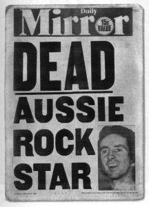 Portada Daily Mirror muerte Bon Scott