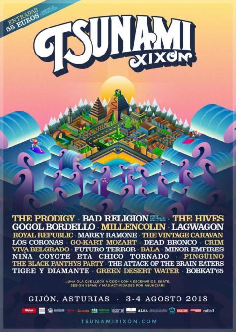 El Tsunami Xixón 2018 confirma nuevas bandas