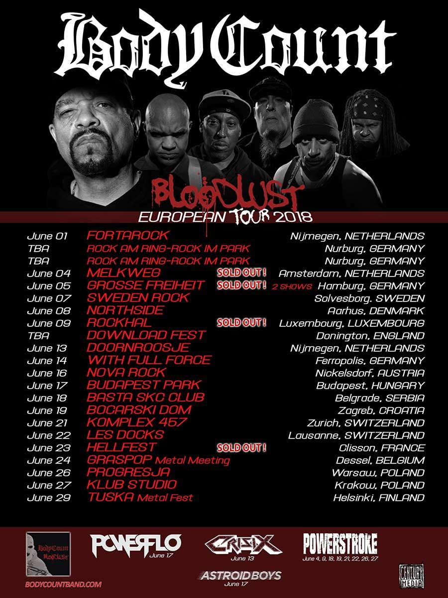 Crisix conciertos Body Count Ice T