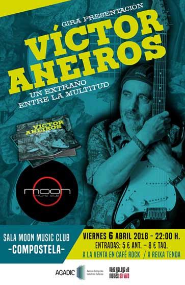 Cartel concierto Victor Aneiros Sala Moon Santiago