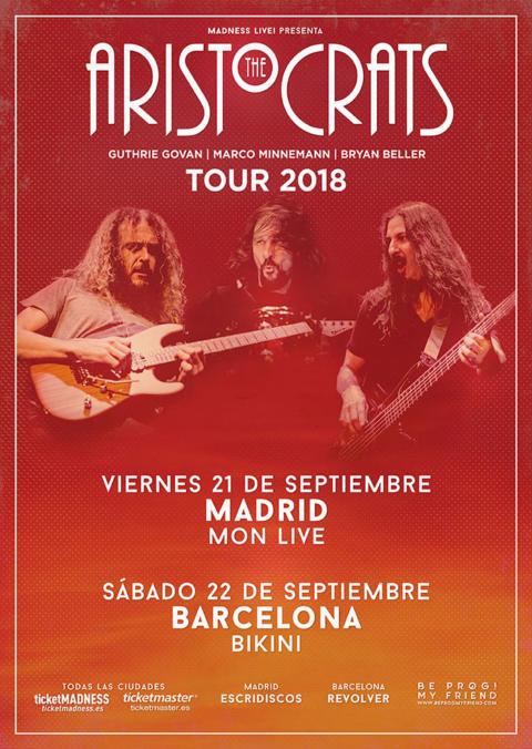 The Aristocrats vuelven en septiembre de gira por España