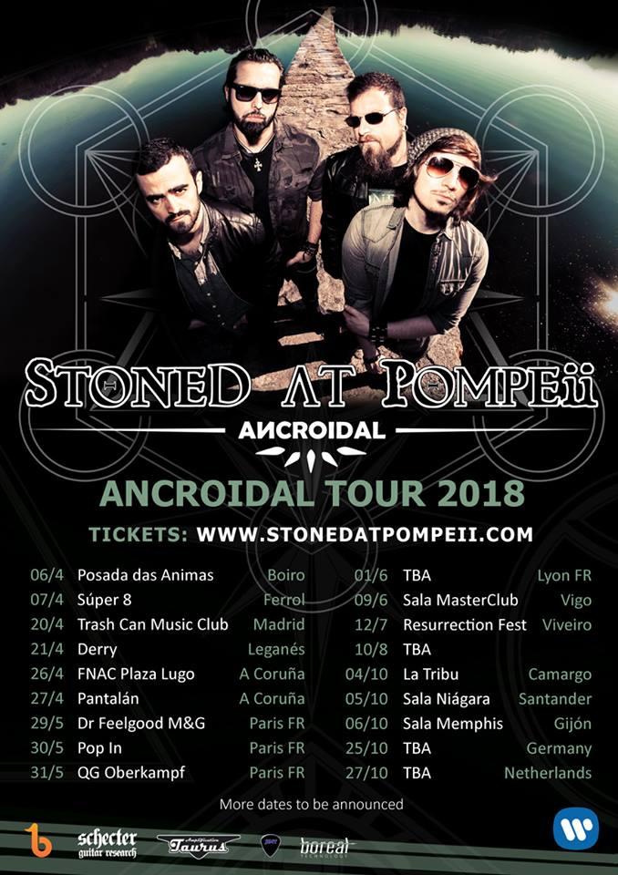 Cartel gira Ancroidal y Entrevista Stoned at Pompeii