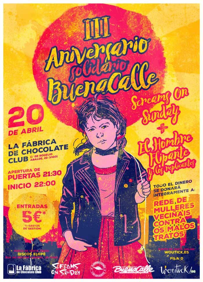 Cartel Aniversario Solidario Buenacalle