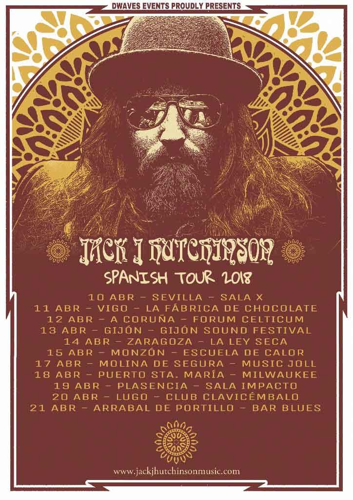 Conciertos del guitarrista Jack J Hutchinson