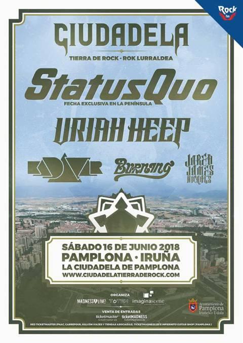 Cartel definitivo del Ciudadela Tierra de Rock Festival 2018