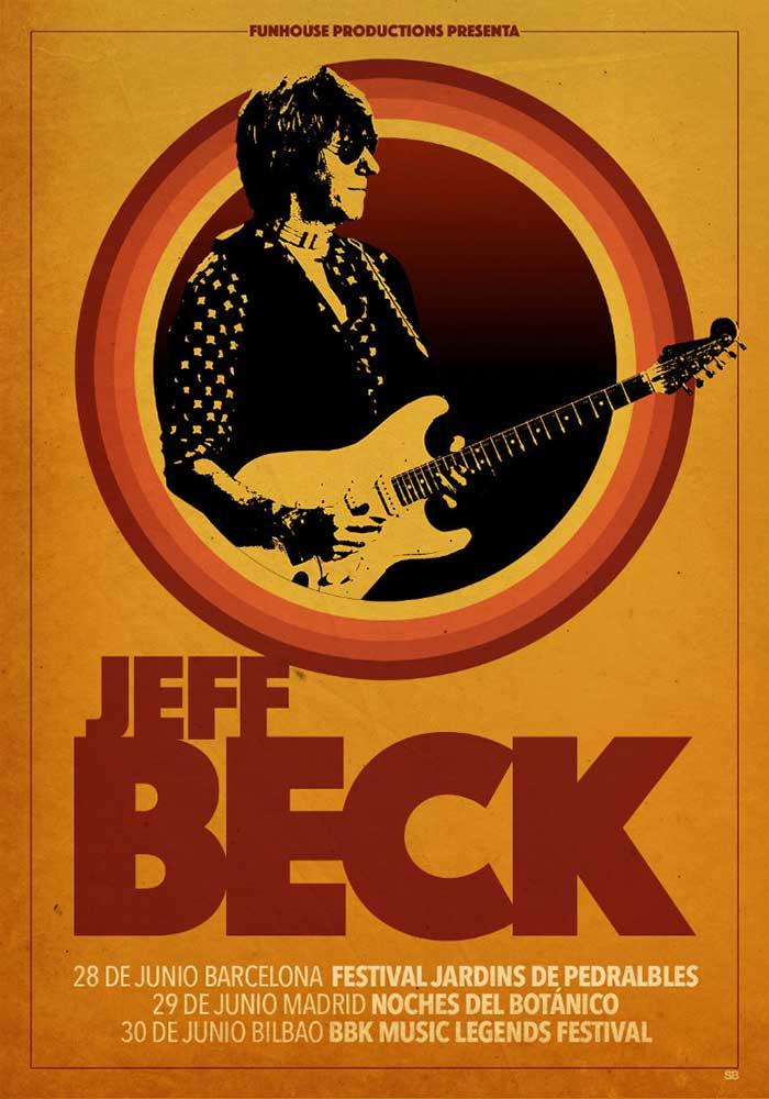cartel conciertos Jeff Beck España 2018