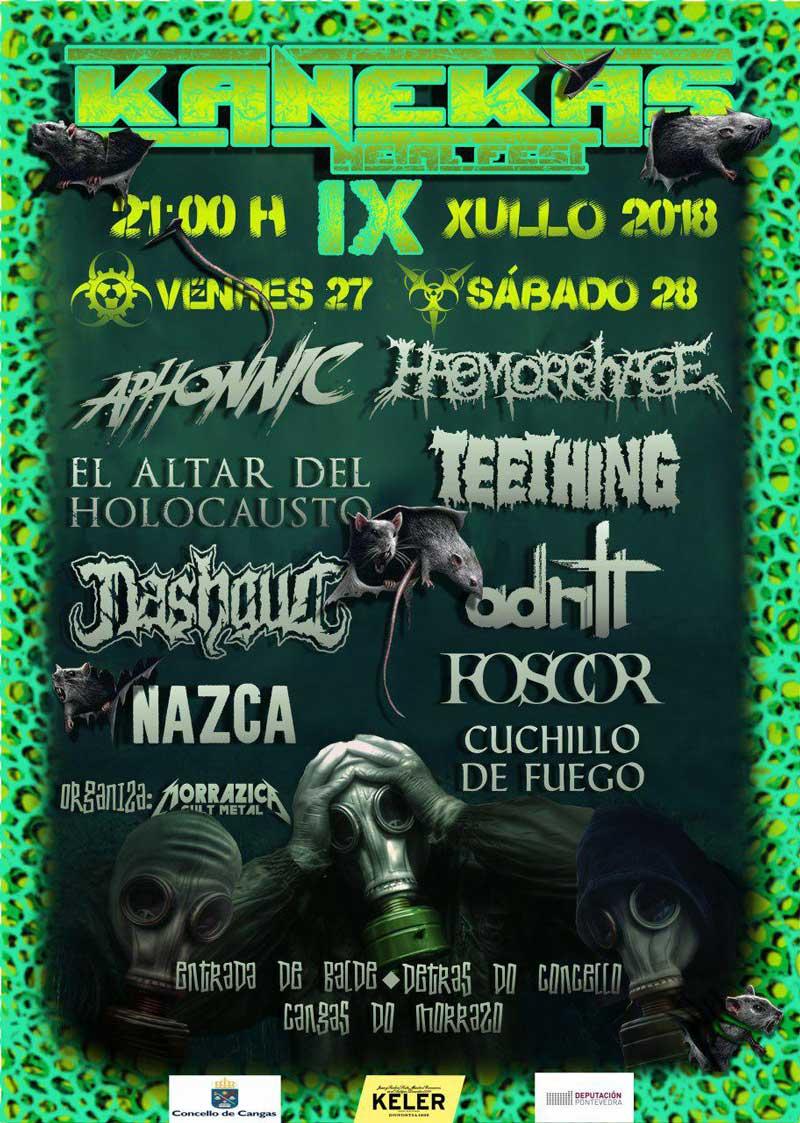 cartel Noticias Kanekas Metal Fest 2018