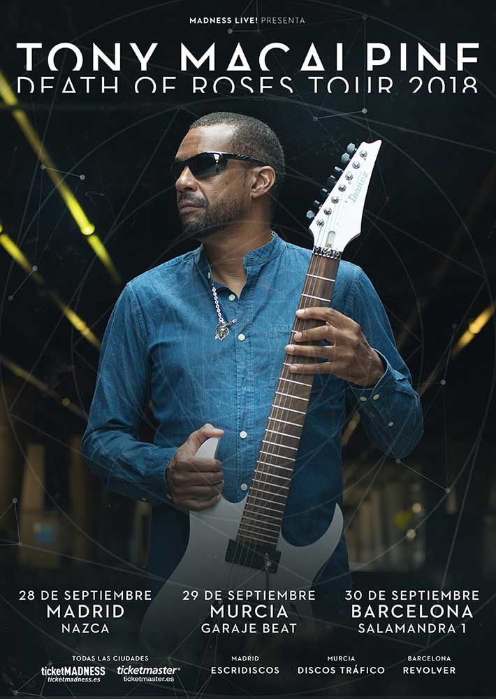 Cartel conciertos Tony Macalpine 2018