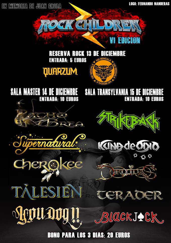 Cartel festival benéfico Rock Children Vigo 2018