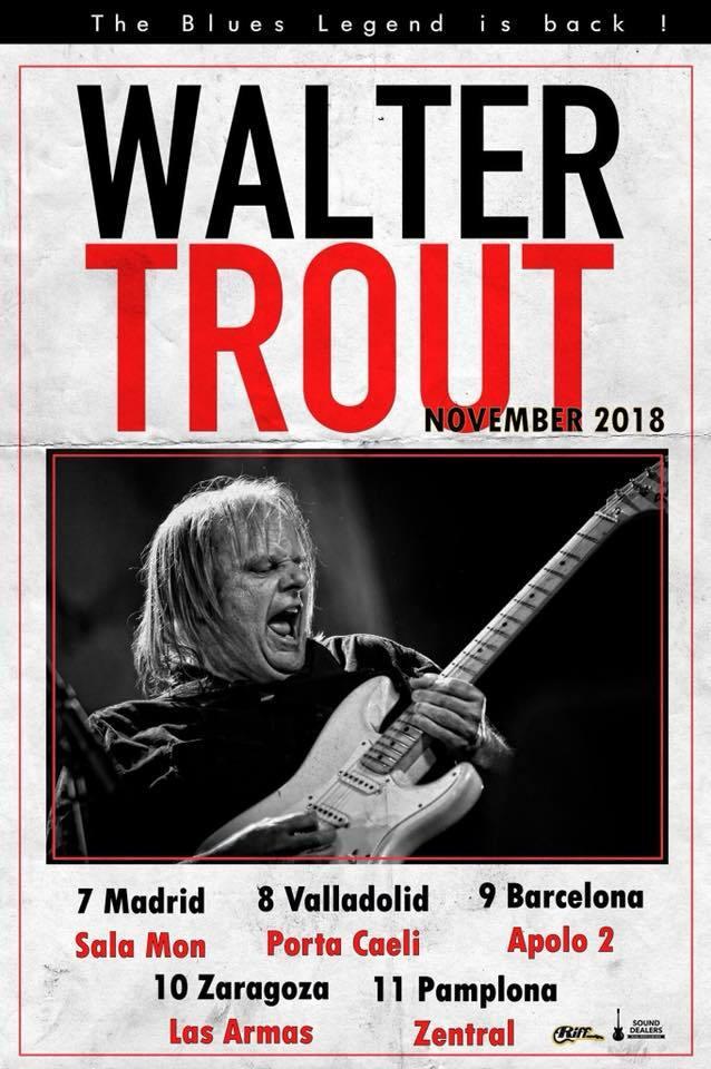 conciertos Walter Trout Epaña 2018