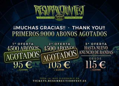 9000 abonos para el Resurrection Fest 2019 vendidos en hora y media