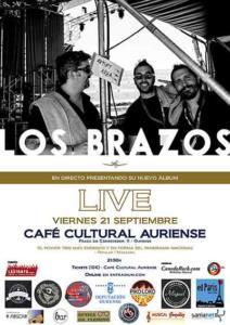 Cartel concierto Los Brazos Ourense