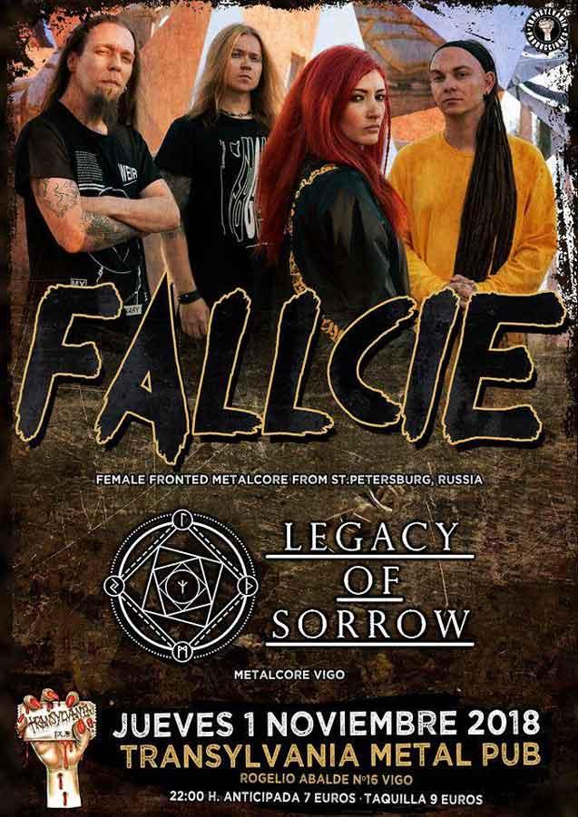 cartel concierto Fallcie vigo
