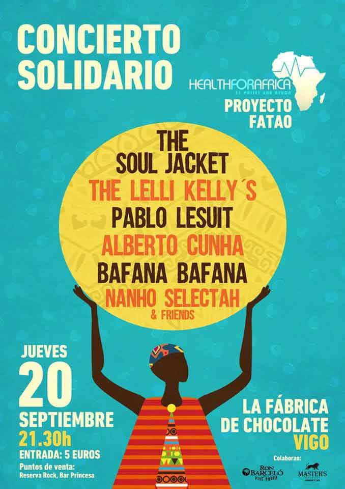 cartel concierto Health for África 2018