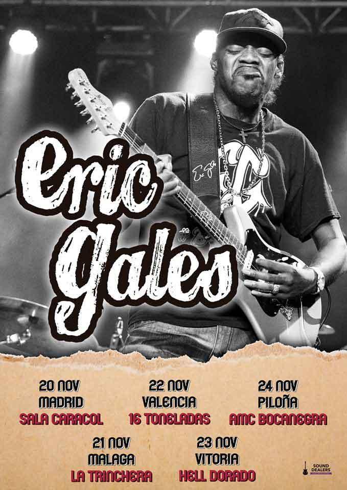Cartel conciertos Eric Gales España 2018