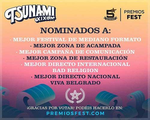Nominaciones Tsunami Xixón