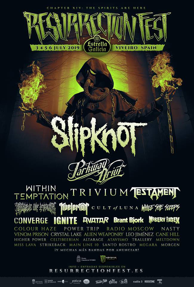 Slipknot cabeza de cartel Resurrection Fest 2019