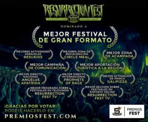nominaciones resurrection fest