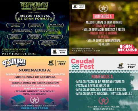 El Resurrection Fest, O Son Do Camiño, Tsunami Xixón y Caudal Fest suman 26 nominaciones a los Premios Fest
