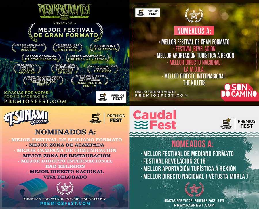 nominados premios Fest 2018