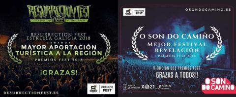 O Son do Camiño y Resurrection Fest triunfan en los Premios Fest