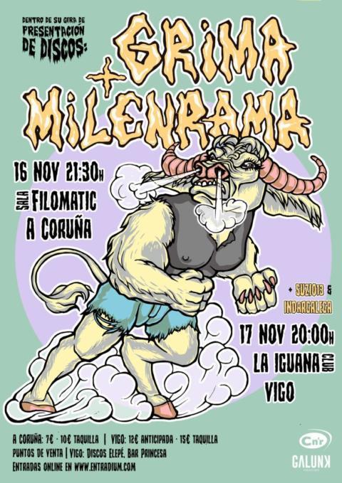 Grima y Milenrama se preparan para hacer mucho ruido en la Filomatic de A Coruña